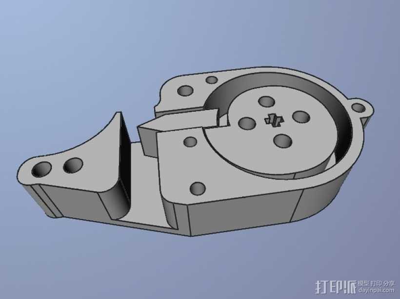 乐高电动阀 3D打印模型渲染图