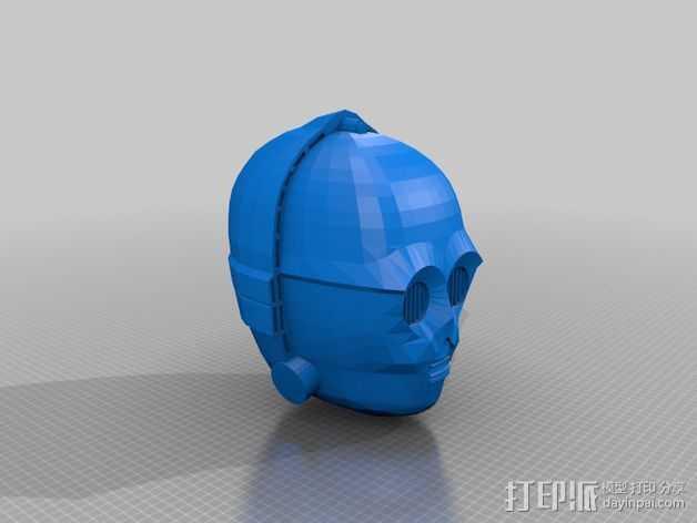 C3Po 头部模型 3D打印模型渲染图