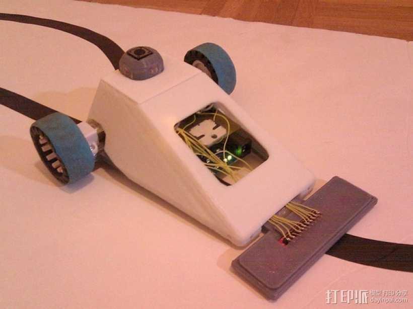 Vector-9000,一个快速线条跟踪机器人 3D打印模型渲染图