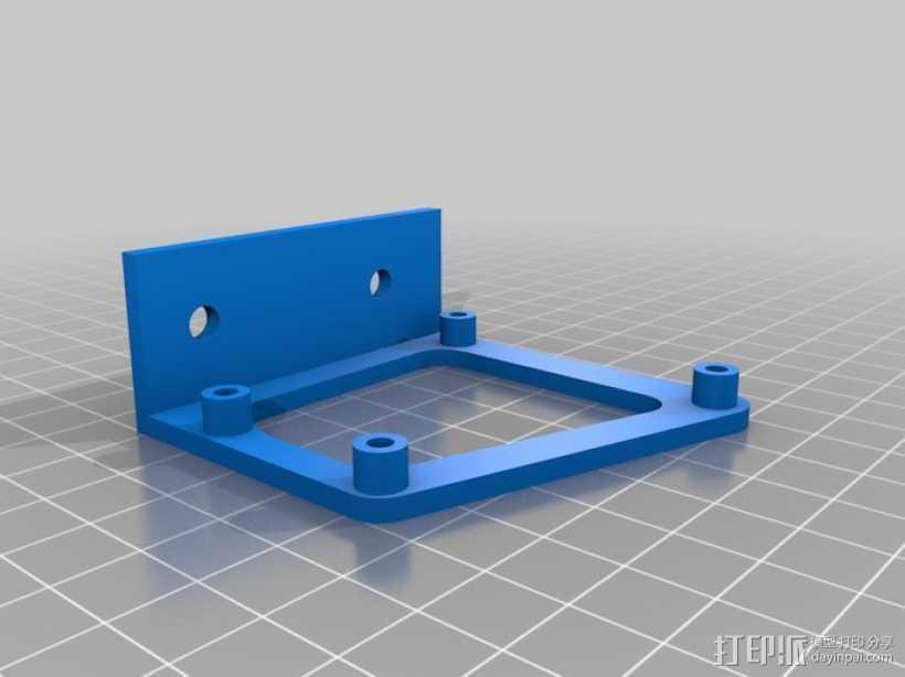 微型控制器 3D打印模型渲染图