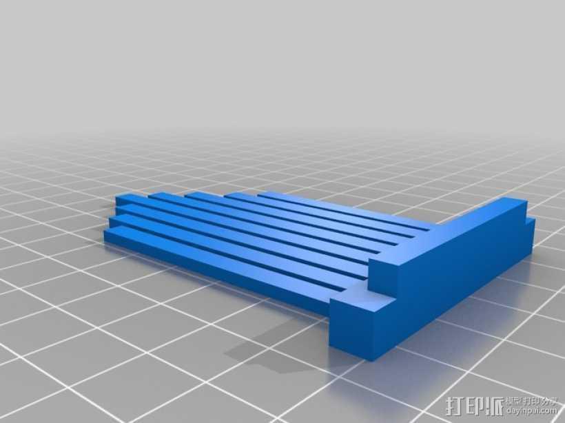 拇指琴 3D打印模型渲染图