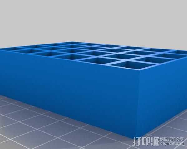 9mm弹药夹 3D打印模型渲染图