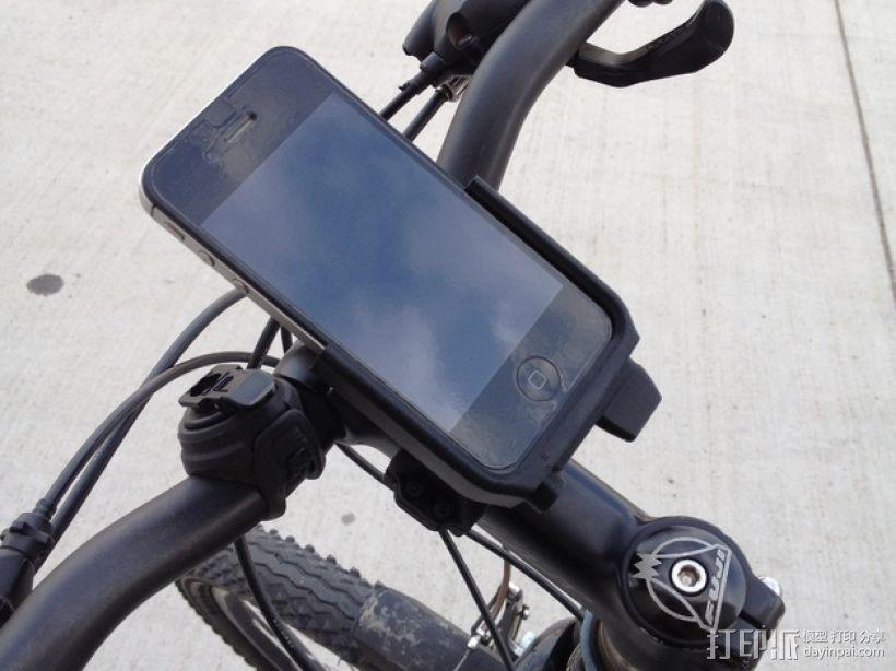 车载iphone手机座 3D打印模型渲染图