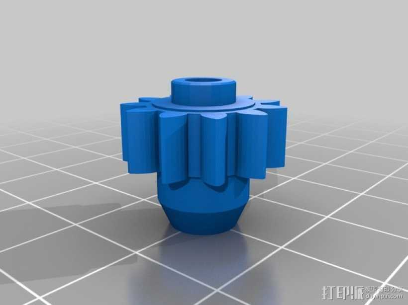 手腕形齿轮 3D打印模型渲染图