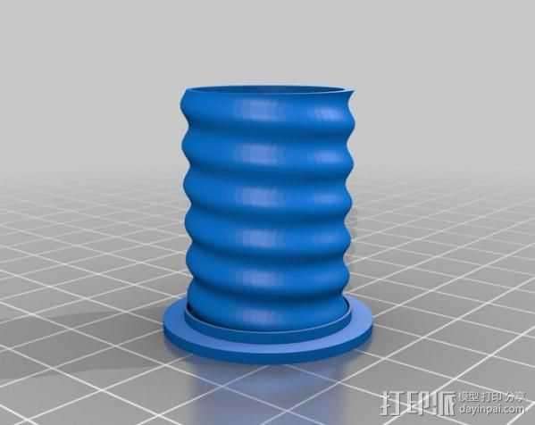 螺旋花瓶 3D打印模型渲染图