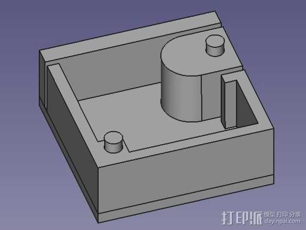 芯片分割器 3D打印模型渲染图