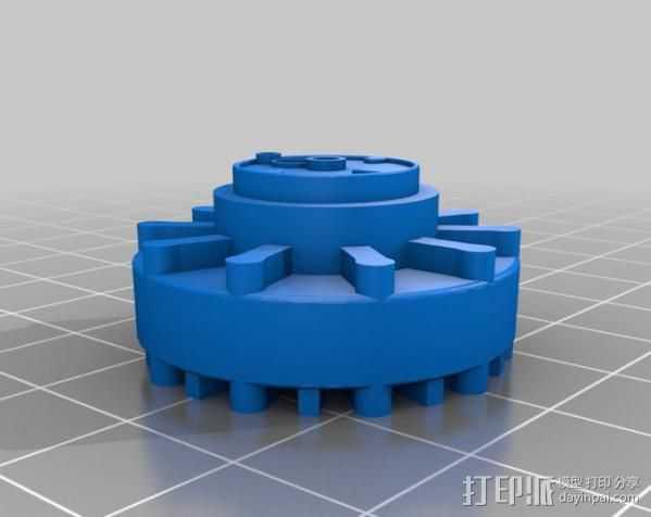 传动链轮 3D打印模型渲染图
