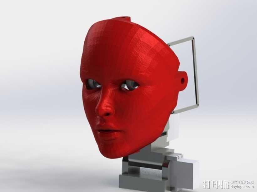 人脸面具 3D打印模型渲染图