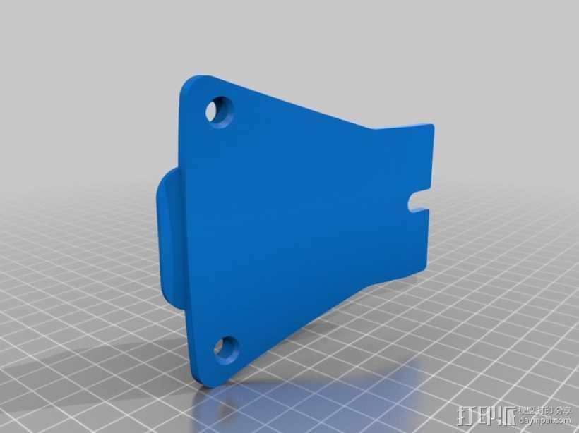 相机挂载 3D打印模型渲染图