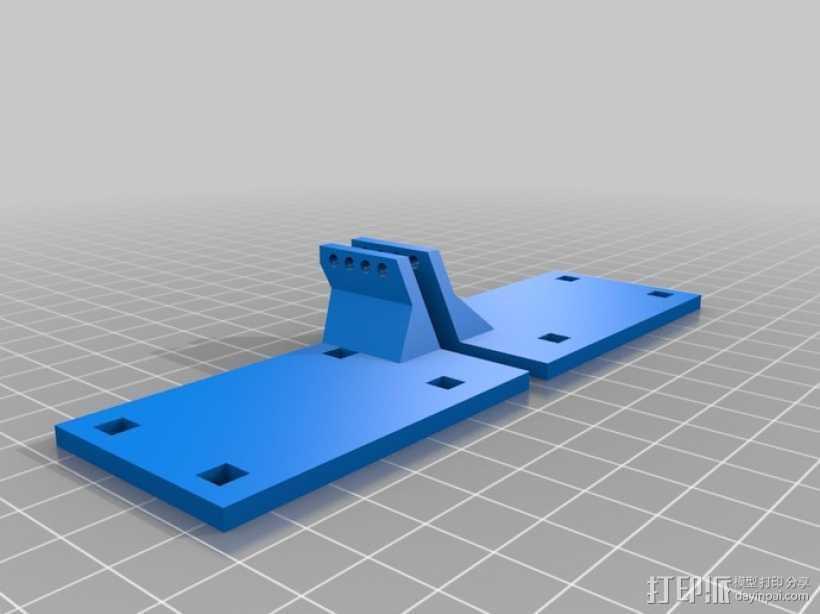 Towel RC飞机的伺服蜂鸣 3D打印模型渲染图