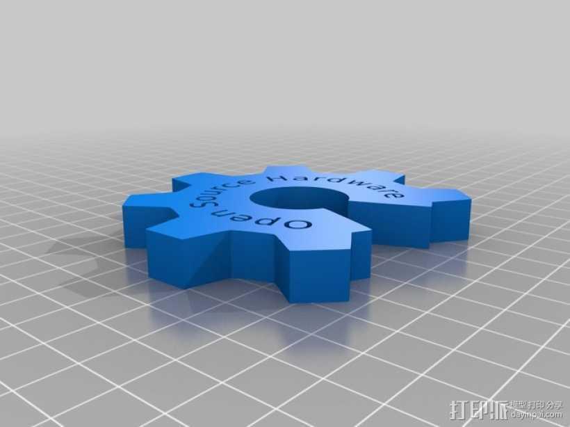 开源硬件标识 3D打印模型渲染图
