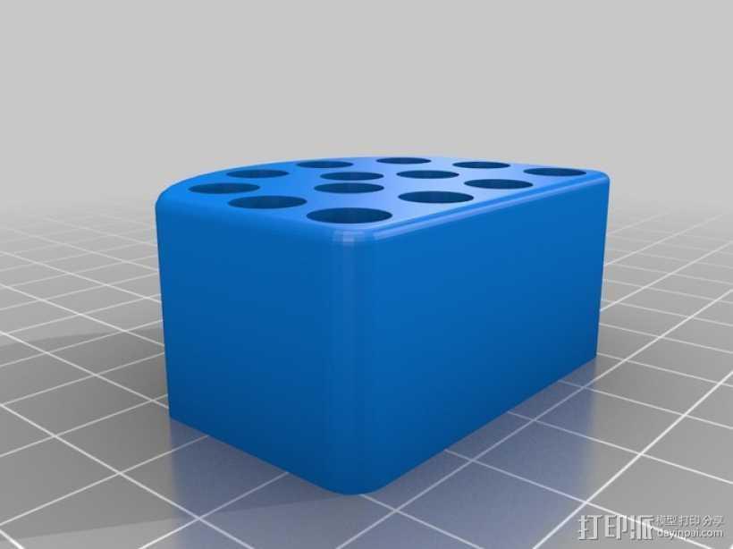 射击子弹盒 3D打印模型渲染图