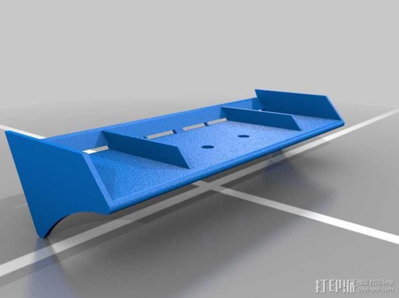 迷你尾翼板 3D打印模型渲染图