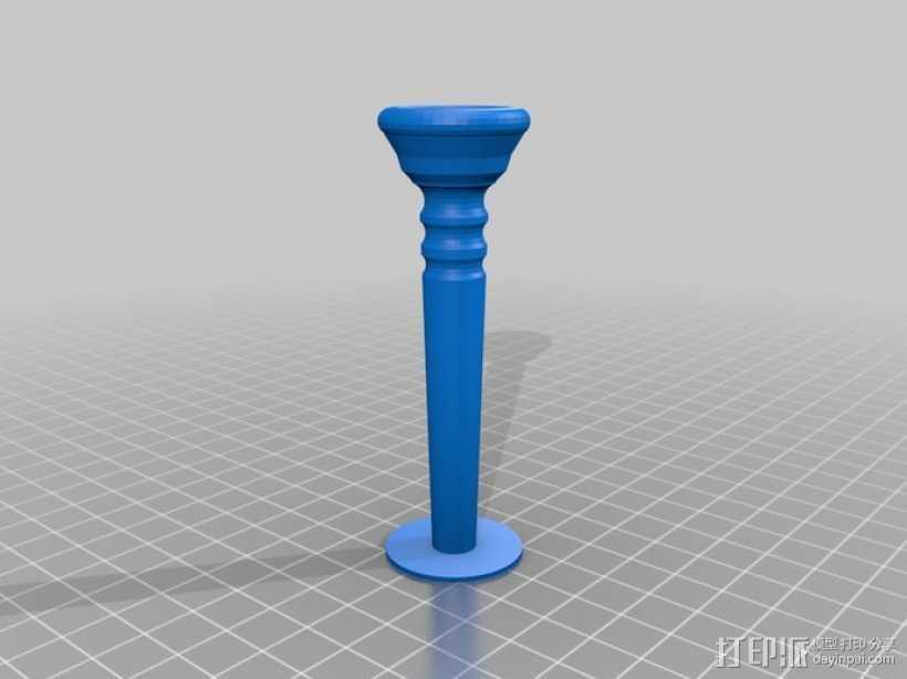 小号喉舌 3D打印模型渲染图