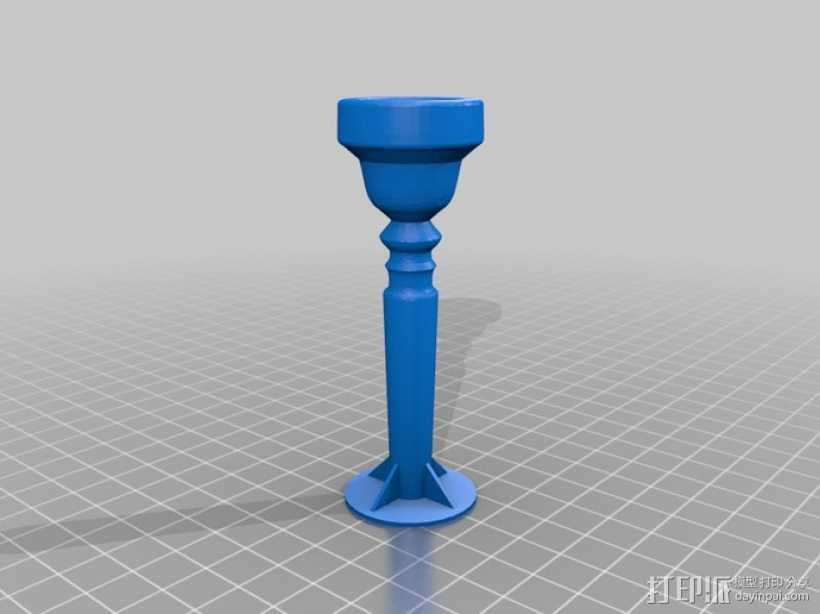 工作用小号喉舌 3D打印模型渲染图