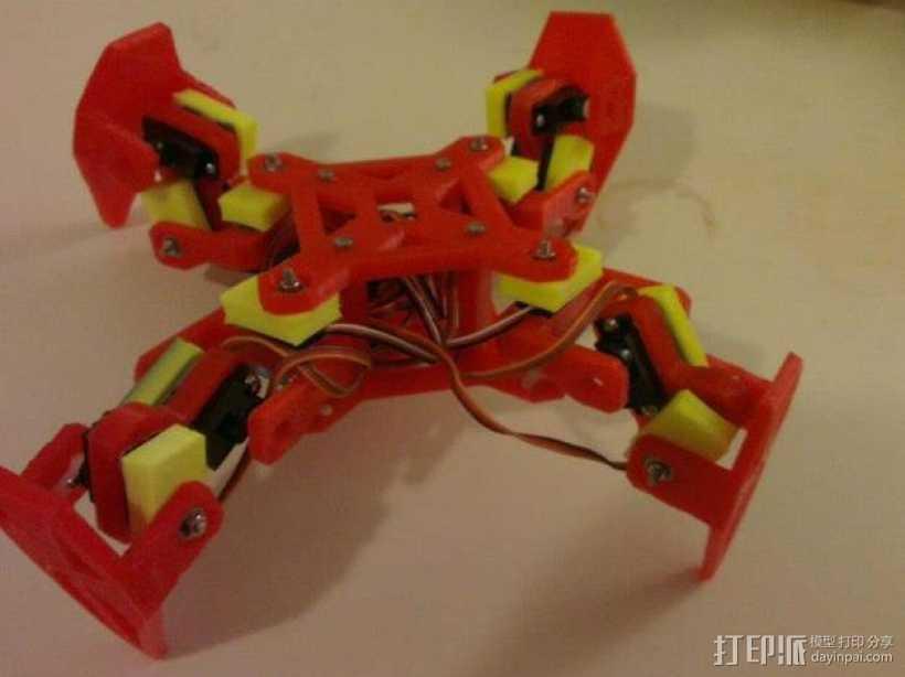 四足动物机器人 3D打印模型渲染图
