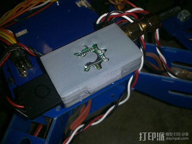 3DR无线电盒 3D打印模型渲染图