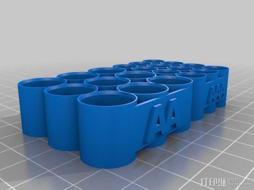 AA和AAA电池座 3D打印模型渲染图