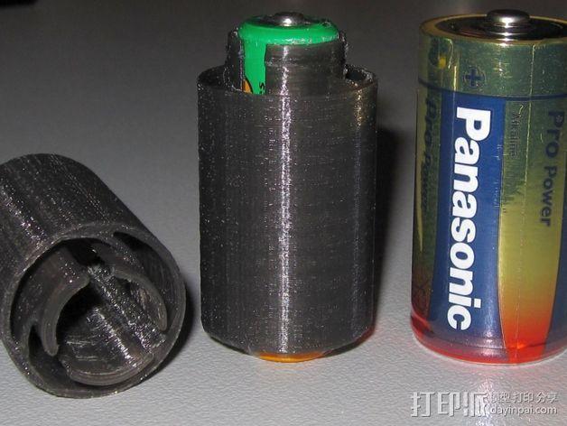 电池适配器 3D打印模型渲染图