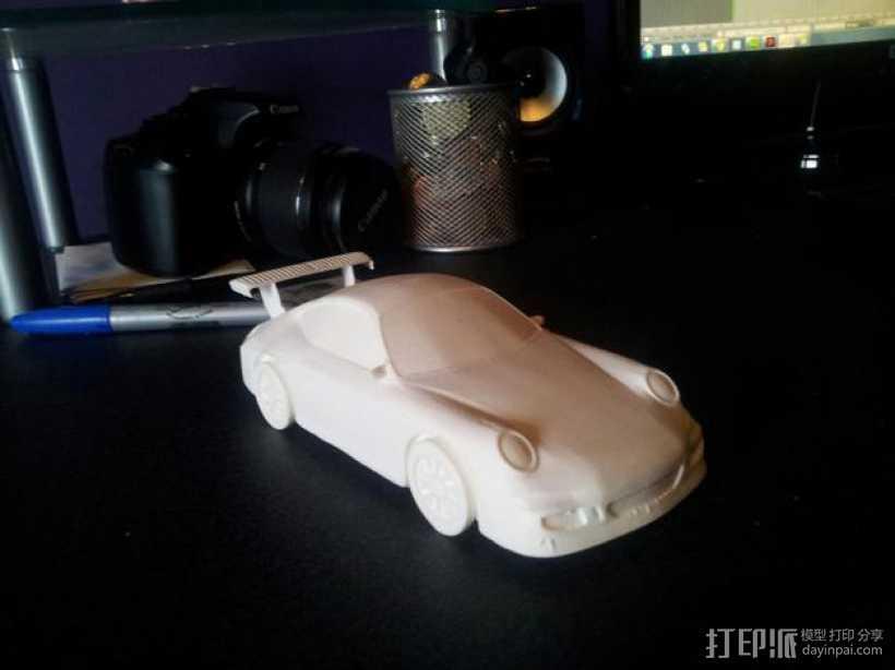 保时捷911 3D打印模型渲染图