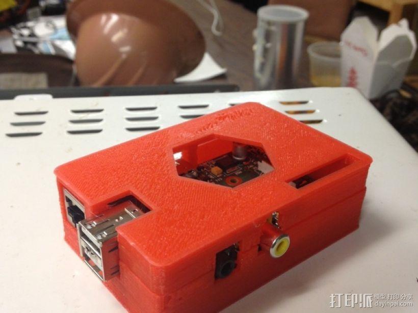 树莓派外壳 3D打印模型渲染图