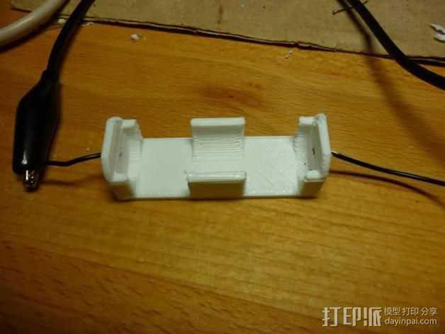 参数型电池夹 3D打印模型渲染图