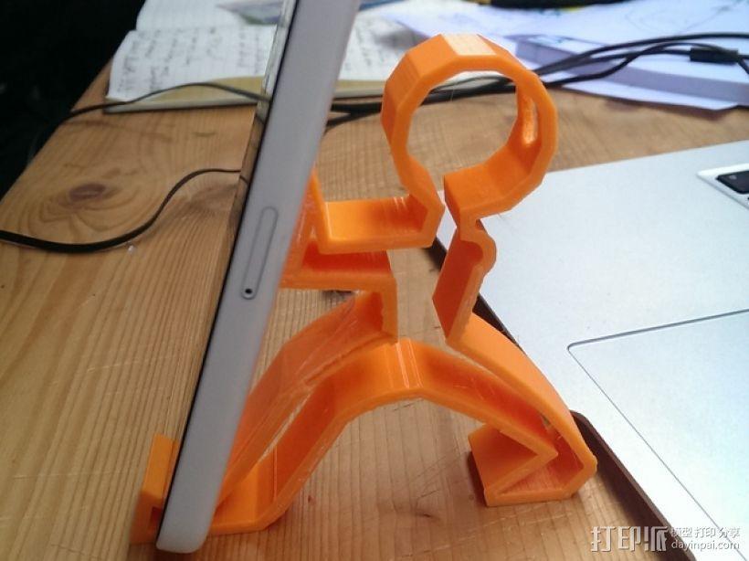 手机支撑架 3D打印模型渲染图