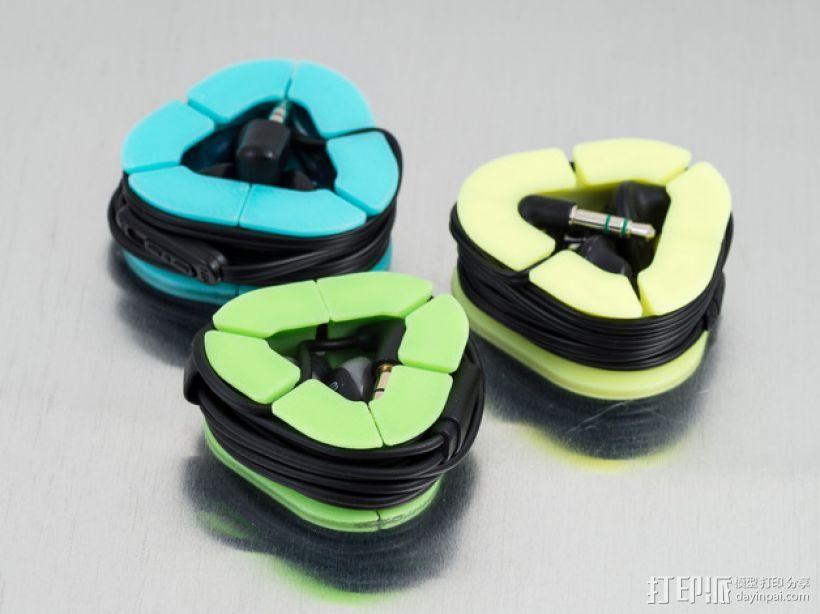 耳机收纳套 3D打印模型渲染图