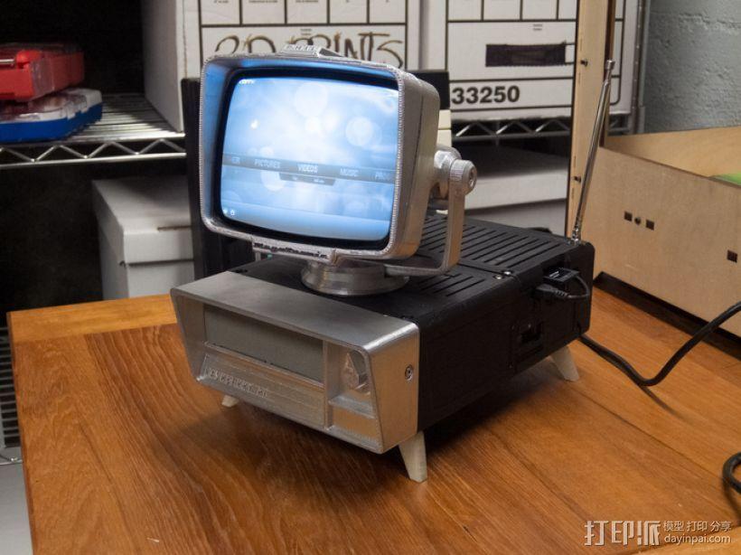 PHIL复古台式电脑/媒介中心 3D打印模型渲染图