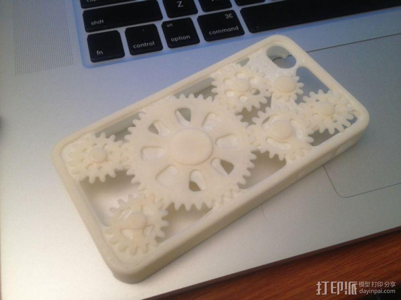 齿轮手机壳 3D打印模型渲染图