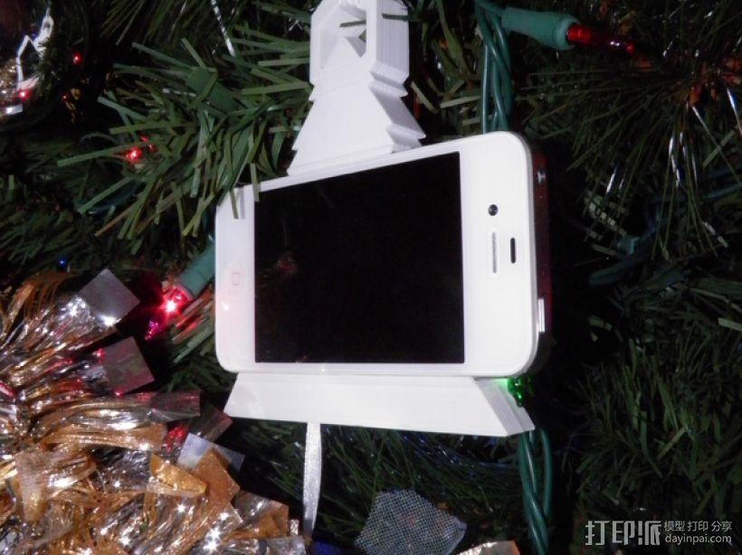 圣诞装饰品:iPhone音乐播放器 3D打印模型渲染图