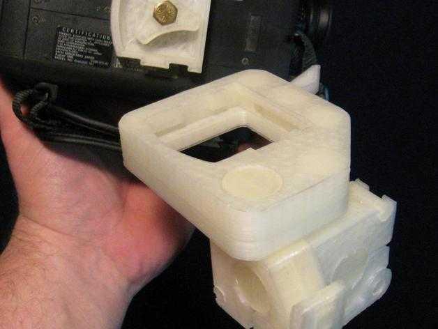 三脚架倾斜头 3D打印模型渲染图