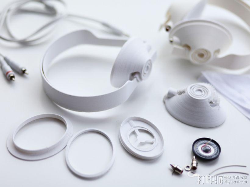 头戴式耳机 3D打印模型渲染图