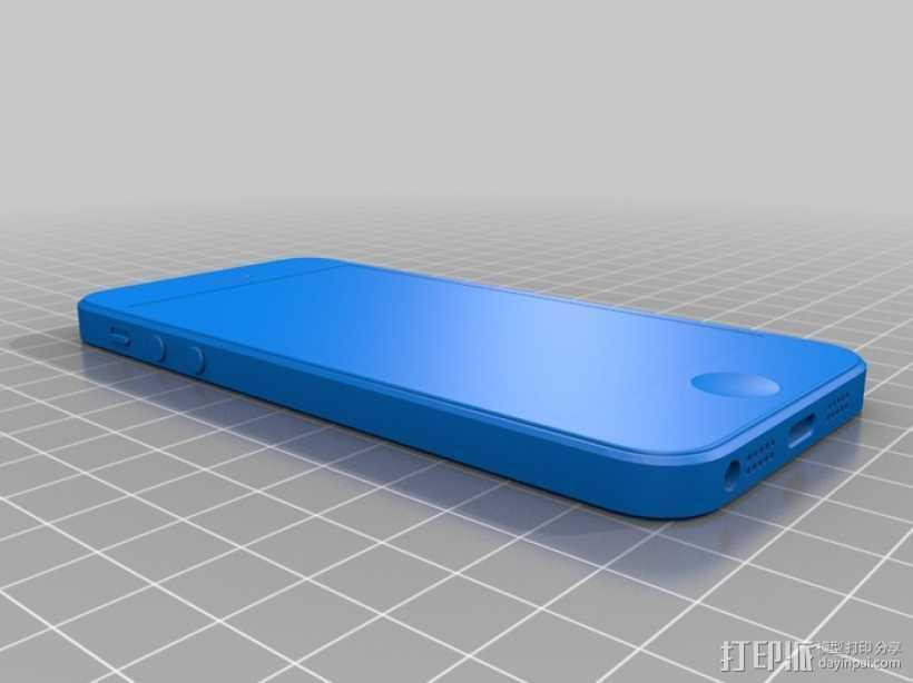 Iphone 5 3D打印模型渲染图