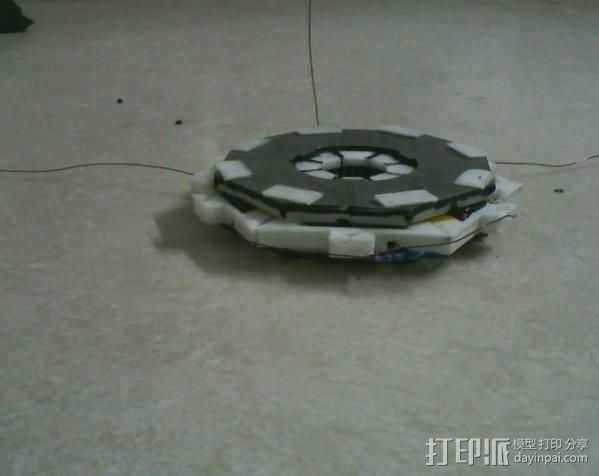 盘式电机 3D打印模型渲染图