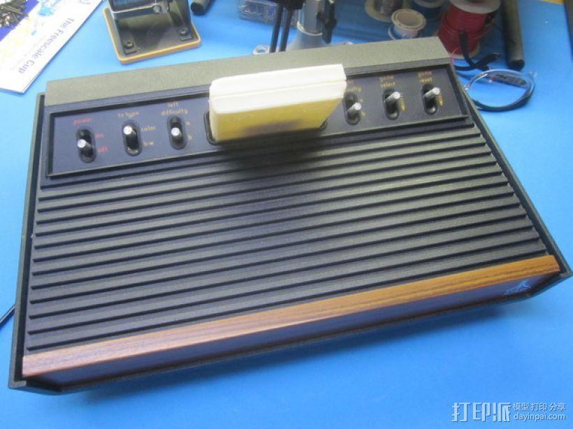 Atari 2600游戏机游戏卡外壳 3D打印模型渲染图