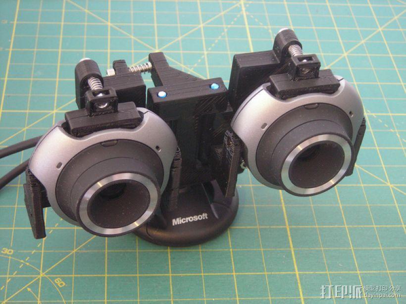 立体摄影机固定架 3D打印模型渲染图