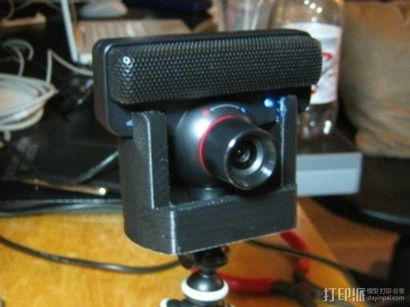 PS3 Eye摄像机三脚架 3D打印模型渲染图