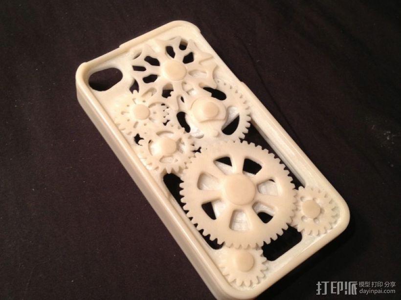 iPhone齿轮手机套 3D打印模型渲染图