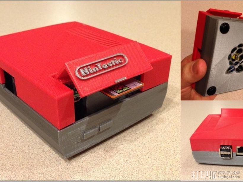 树莓派游戏机 3D打印模型渲染图