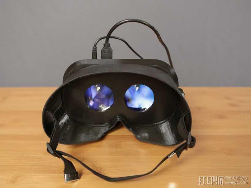 可穿戴视频眼镜 3D打印模型渲染图