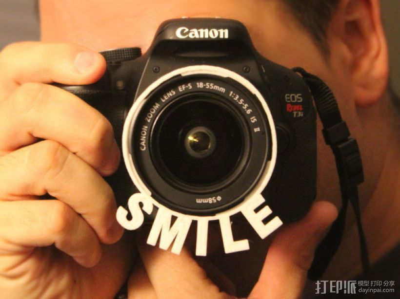 佳能T3i相机透镜遮光罩 3D打印模型渲染图
