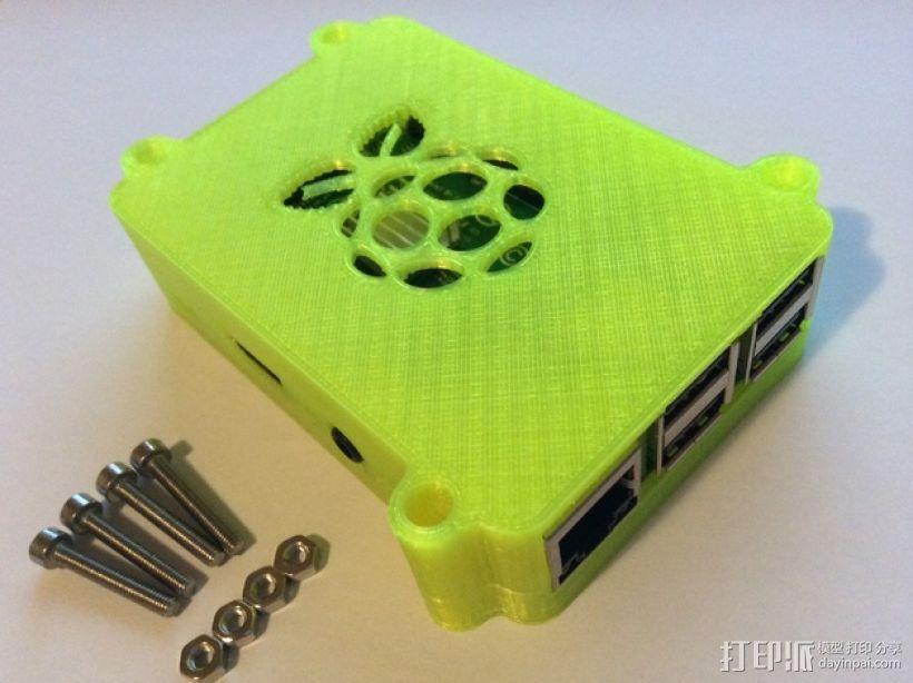 树莓派B+盒子 3D打印模型渲染图