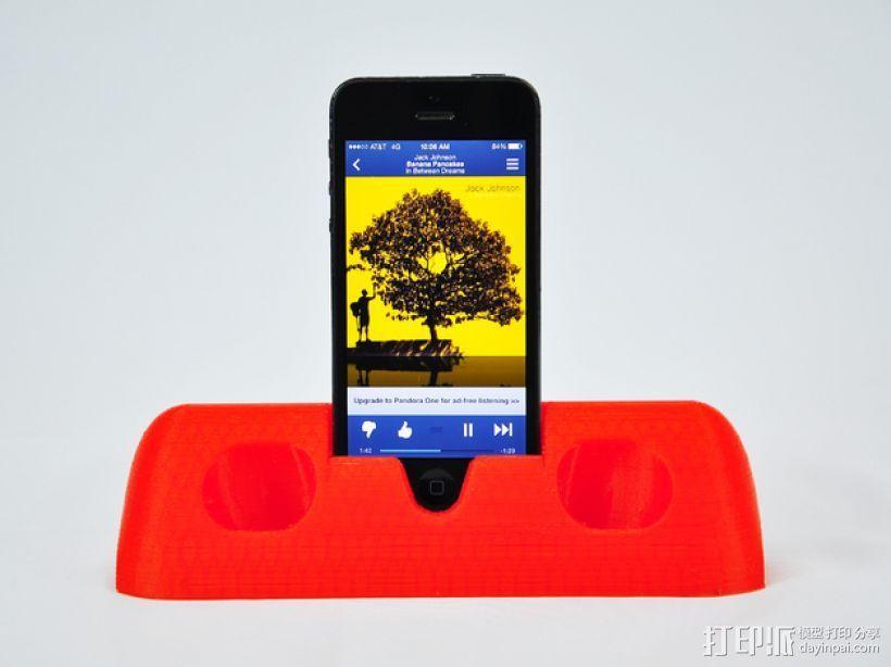 iPhone 5手机架 3D打印模型渲染图