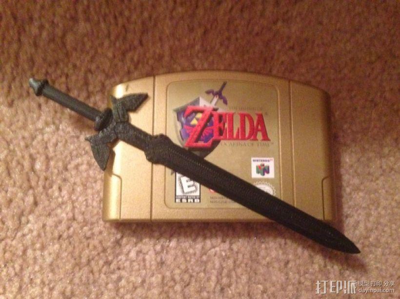 游戏《塞尔达传说》大师之剑 3D打印模型渲染图