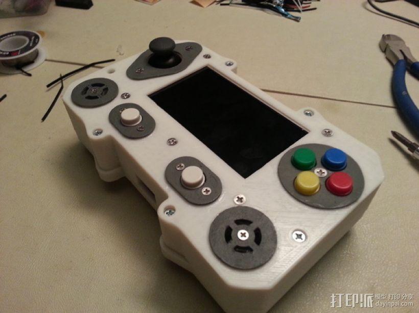 便携式树莓派游戏机模拟装置 3D打印模型渲染图