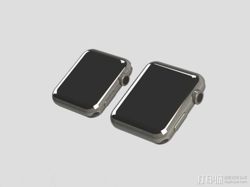 苹果手表表壳  3D打印模型渲染图