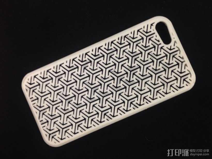 个性化iPhone5手机壳 3D打印模型渲染图
