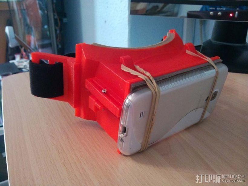 安卓智能手机虚拟现实眼镜 3D打印模型渲染图