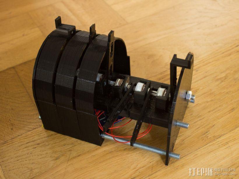 可扩展油门操纵杆 3D打印模型渲染图